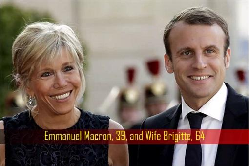 Emmanuel Macron, 39, and Wife Brigitte, 64