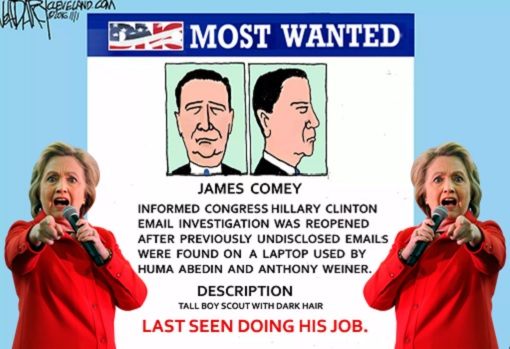 FBI Director James Comey - Wanted Man by Democrat - Hillary Clinton