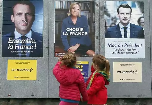 France Presidency Election 2017 - Emmanuel Macron and Marine Le Pen Posters