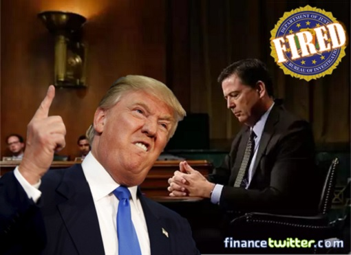 President Donald Trump Fired FBI Director James Comey - You're Fired