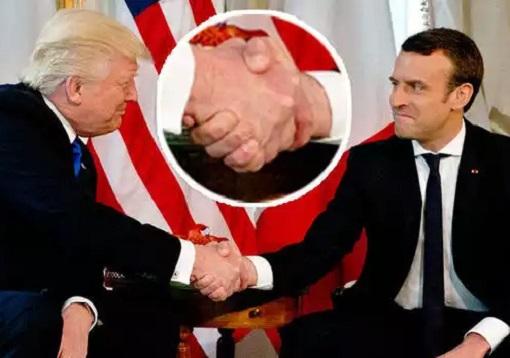 President Donald Trump HandShake Battle with President Emmanuel Macron