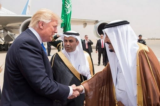 President Donald Trump Meets King Salman - Handshake