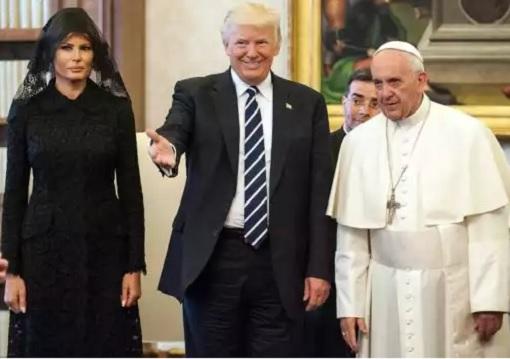 President Donald Trump, Melania and Pope Francis