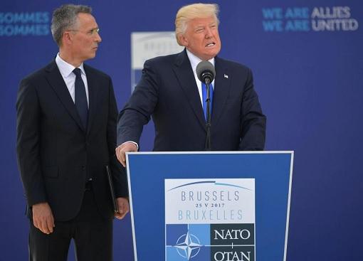 President Donald Trump Visit EU - Lectured NATO Speech