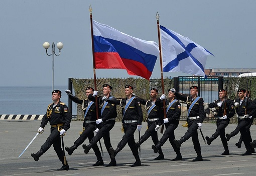 Russian Navy Day Marching