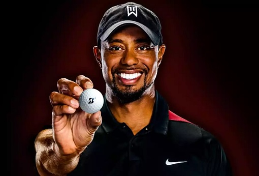 Tiger Woods - Sponsor Bridgestone Golf Ball