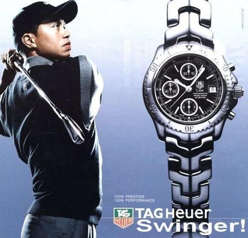 Tiger Woods - Sponsor Tag Heuer