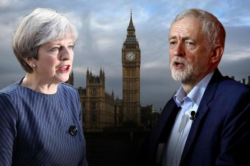 Britain Snap Election 2017 - Conservatives Theresa May Faces Labour Jeremy Corbyn
