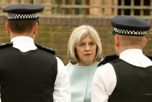 Britain UK Election 2017 - Theresa May Cut 20000 Polices Forces As Home Secretary
