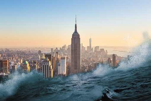 Climate Change Apocalypse - New York Flooded