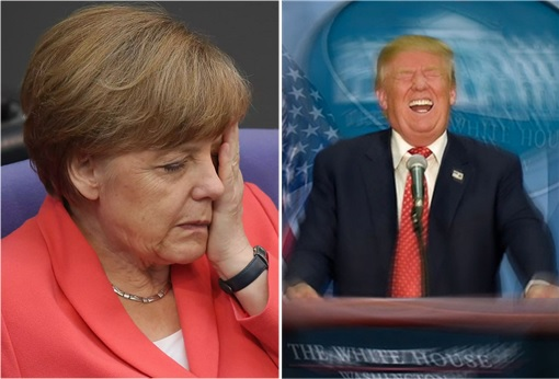 Climate Change Global Warming - Donald Trump Piss Off Angela Merkel