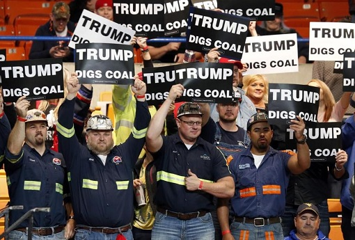 Climate Change - Trump Supporters - Digs Coal