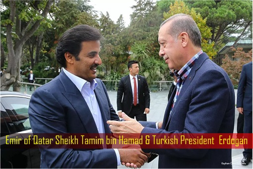 Emir of Qatar Sheikh Tamim bin Hamad and Turkish President Erdogan