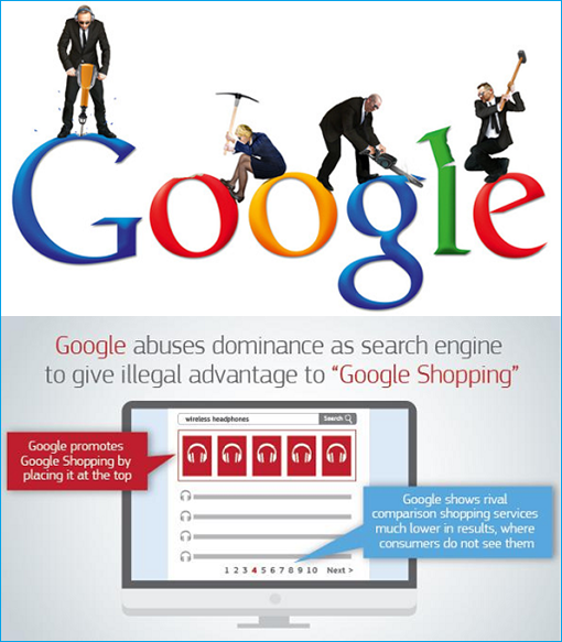 Google Evil - Abuses Dominance Google Shopping - Breakup