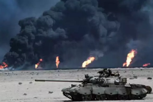 Iraq Invaded Kuwait - Tank