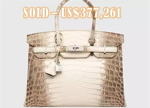 a92dc43214 New Record - Hermès Birkin - Matte White Himalaya Niloticus Crocodile -  USD377261. Auction house Christie s said the Hermes bag ...