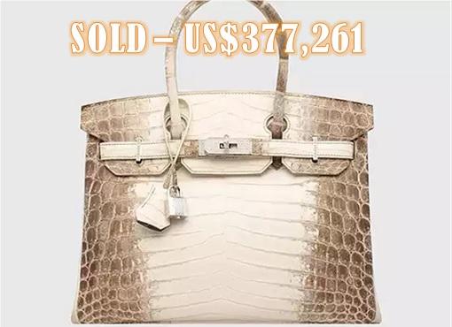 New Record - Hermès Birkin - Matte White Himalaya Niloticus Crocodile - USD377261