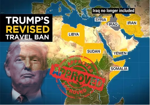 President Donald Trump Revised Travel Ban - Map - Approved