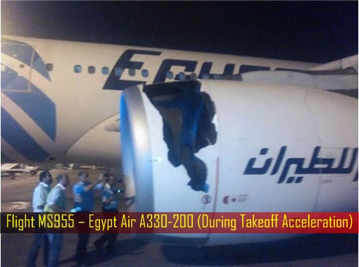 Rolls-Royce Engine Problem - Flight MS955 – Egypt Air A330-200 - During Takeoff Acceleration