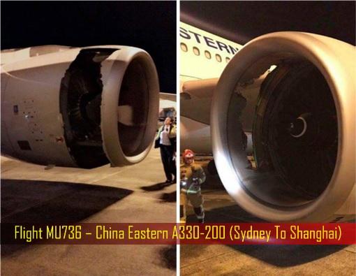 Rolls-Royce Engine Problem - Flight MU736 – China Eastern A330-200 - Sydney To Shanghai