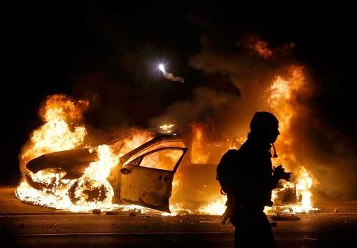 Sweden No-Go Zone - Violence - Burning Cars