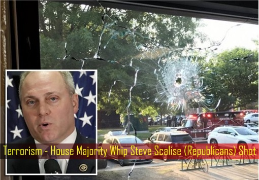 Terrorism - House Majority Whip Steve Scalise (Republicans) Shot