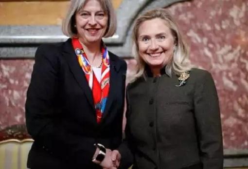 Theresa May and Hillary Clinton