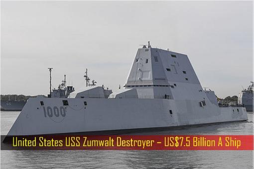 United States USS Zumwalt Destroyer – 7.5 Billion US Dollar A Ship