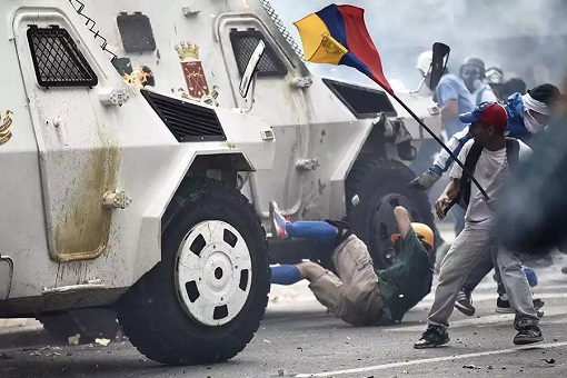 Venezuela Government Military Armour Truck Mowed Down Protesters