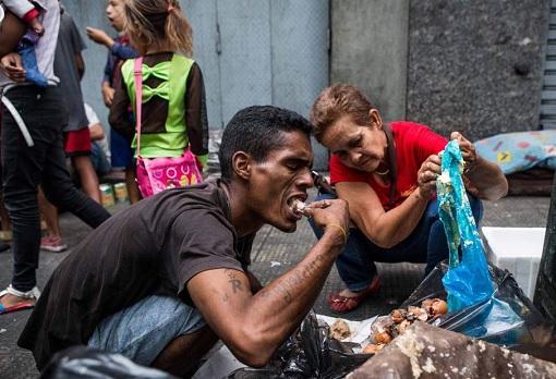 Venezuelans Eat Garbage Trash