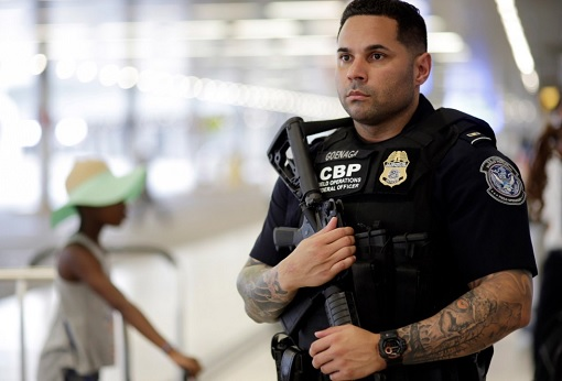 Armed US Immigration and Customs Officers - CBP