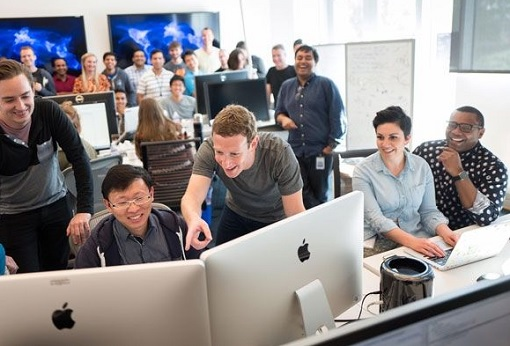 Get Hired At Facebook - Zuckerberg With Co-Workers
