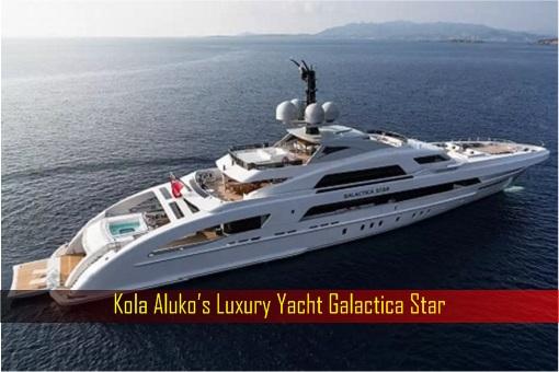 Kola Aluko's Luxury Yacht Galactica Star