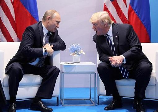 Russian President Vladimir Putin Meets US President Donald Trump