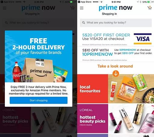 Singapore Amazon Prime Now Launches - Discount Codes