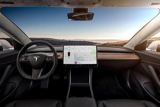 Tesla Model 3 - Interior Dashboard