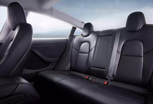 Tesla Model 3 - Interior Rear Seatings