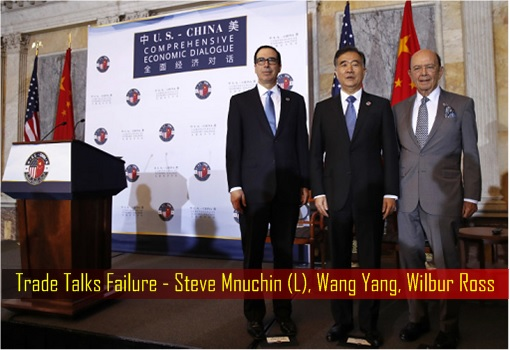 Trade Talks Failure - Steve Mnuchin, Wang Yang, Wilbur Ross
