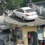Security Guards In China - You Don't Pay, We Lift Your Car Onto Roof!!