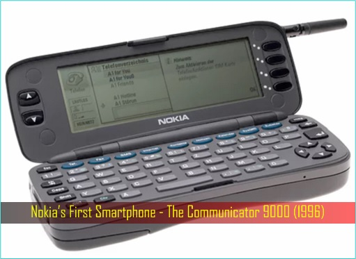 Nokia's First Smartphone - The Communicator 9000 (1996)