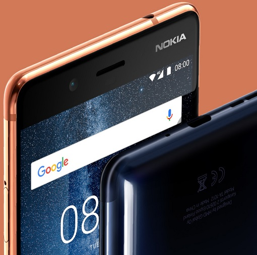 Nokia 8 - Front Side View