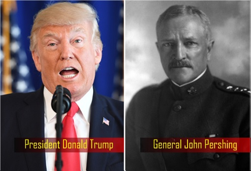 President Donald Trump and General John Pershing