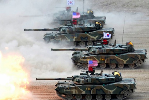 South Korea - United States - Military Exercise - Tanks