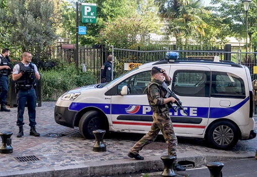 Terrorist Attack - A Security Perimeter At Site of Attack in Levallois-Perret, Paris
