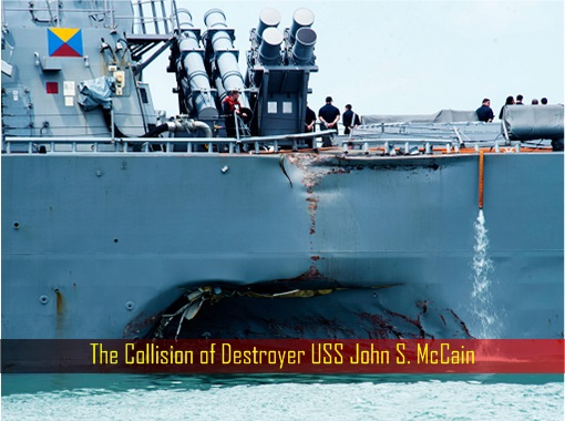 The Collision of Destroyer USS John S. McCain