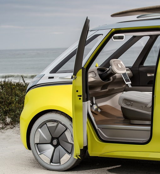 Volkswagen VW Electric Microbus 2022 - Front Door Opens
