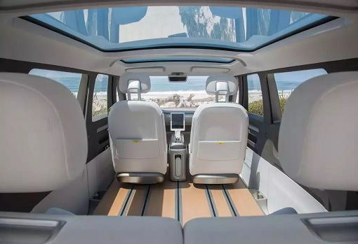 Volkswagen VW Electric Microbus 2022 - Interior Front View - From Rear Seats - 2