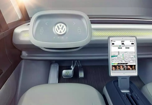 Volkswagen VW Electric Microbus 2022 - Interior Front View - Touchscreen