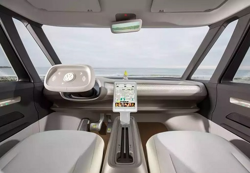 Volkswagen VW Electric Microbus 2022 - Interior Front View