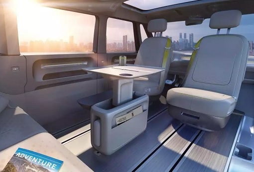 Volkswagen VW Electric Microbus 2022 - Interior Slide Table